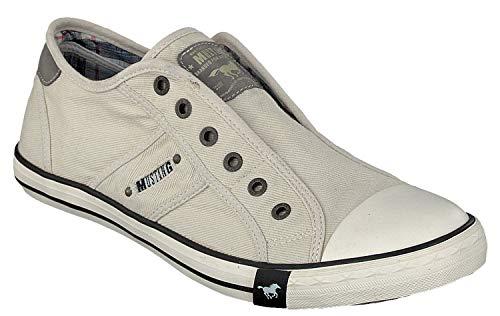 Mustang 4058-401-203, Herren Sneakers, Elfenbein (203 ice), 43 EU