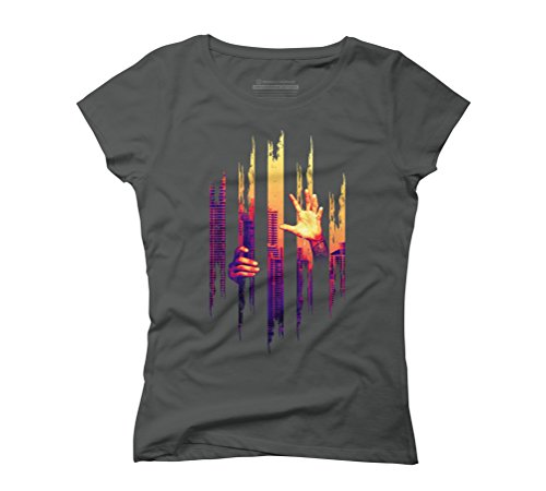 Prison city Women's Graphic T-Shirt - Design By Humans Anthracite