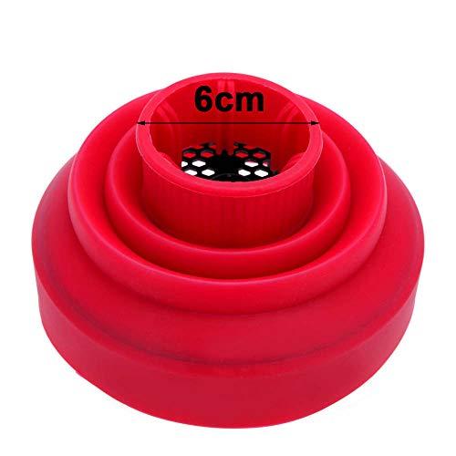 Anself Difusor para sopladores universal plegables de silicona para secador de pelo