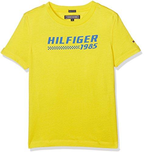 Tommy Hilfiger Jungen T-Shirt Ame Bright Graphic Tee S/S, Gelb (Empire Yellow 711), 164 (Herstellergröße: 14)