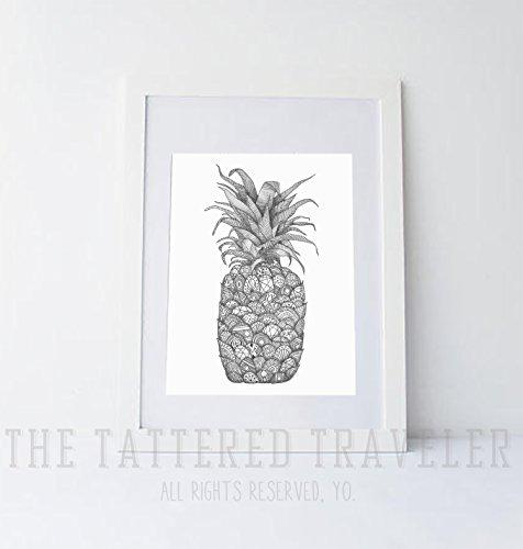 pineapple-drawing-art-print