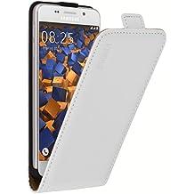 mumbi PREMIUM Etui à clapet pour Samsung Galaxy A3 (2016) (ne pas pour Galaxy A3 - A300F 2015) - Étui de protection à rabat Flip Style blanc