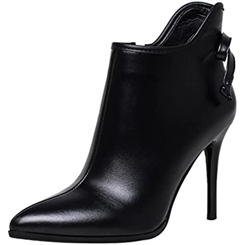 ELEHOT Donna EleI'm tacco a spillo 9.5CM Leather