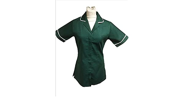 Ladies Tunic Bottle Green   NURSES CARE HOME// CLEANING Athens UNIFORM
