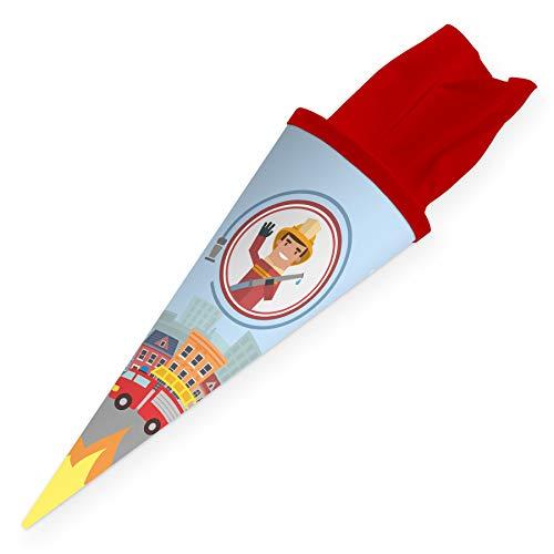 itenga Geschwisterschultüte 35cm für Kinder Geschenkverpackung Schultüte klein Kindergarten Zuckertüte (Feuerwehr) (Kleine Zebra Mädchen Kostüm)