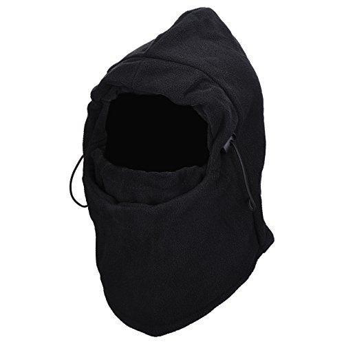 Balaclava Maschera Viso OMorc Passamontagna Fleece Antivento Face Mask, Comodo Morbido con Materiale 100% Poliestere, per Sci Caccia Snowboard Ciclismo Trekking Alpinismo e Altri Sport Esterni Inverno, Nero