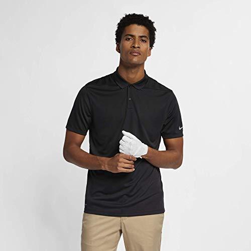Nike Golf-bekleidung (Nike Herren Dry Victory Poloshirt, Schwarz (Black/Flat Silver), L)