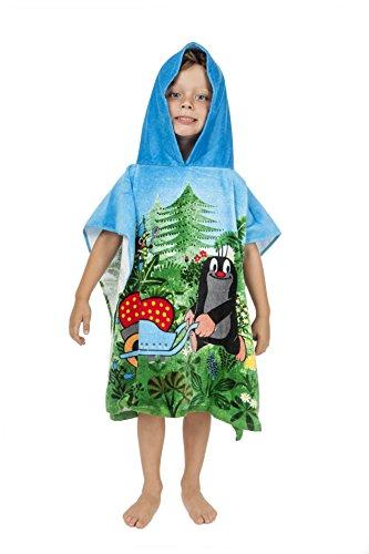 Der kleine Maulwurf Pauli Bademantel / Poncho für Kinder Junge Mädchen aus Baumwolle