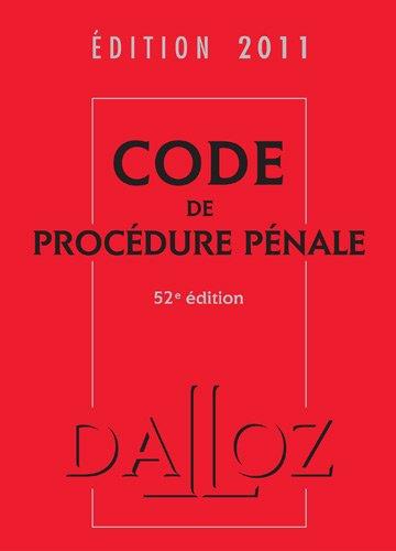 Code de procédure pénale 2011
