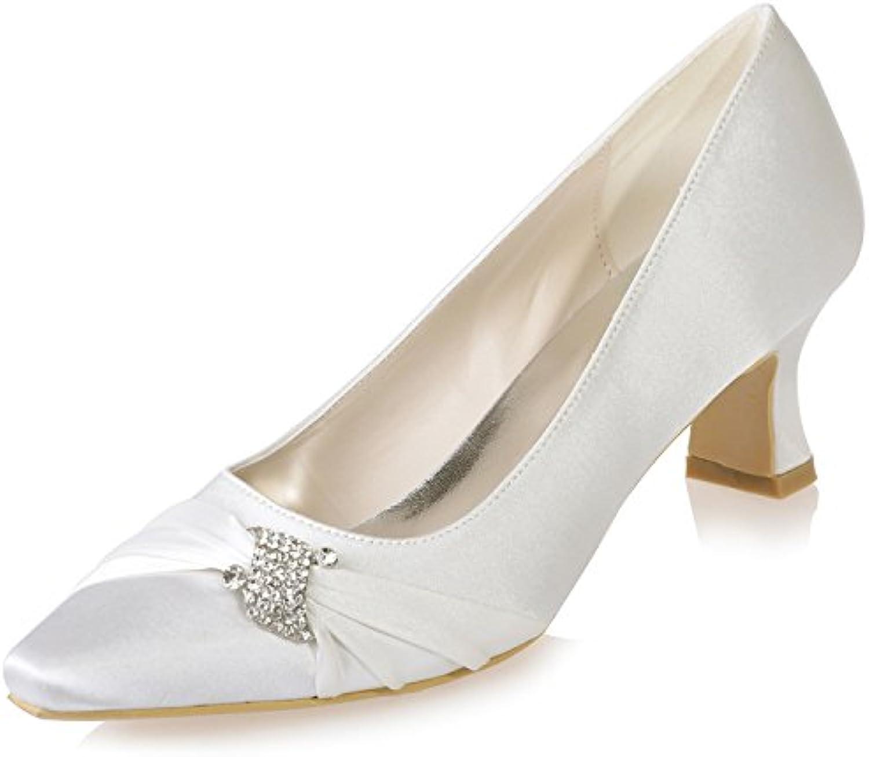 bce9b465686 Sarahbridal Girls Evening Party 19585 Satin Low Heels clindamy-19587 Shoes  Glitter Pointed Toe Bridal Wedding Shoe With Glitter Rhinestone.