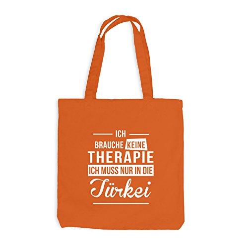 Jutebeutel - Ich Brauche Keine Therapie Türkei - Therapy Urlaub Turkey Orange