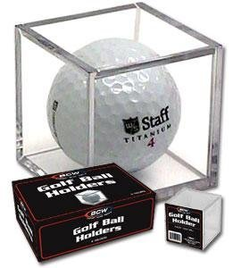 BCW Golf Ball Square - Holder & Display Case (Box of 6 Cubes) (Ball Display-box)