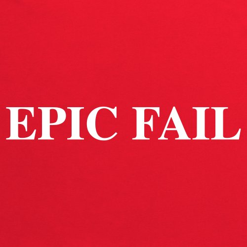 Epic Fail T-Shirt, Damen Rot