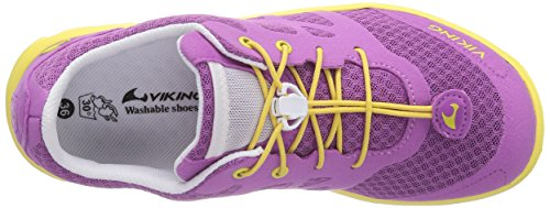 Viking Saratoga Mädchen Sneakers Pink (Dark Pink/Yellow 3913)
