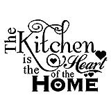 Ndier Wandsticker Die Küche ist das Herz des Hauses DIY entfernbare Wand Zitate Aufkleber Wandaufkleber Wand Kunst Wanddekoration Wandkleber
