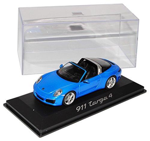 Porsche 911 991 II Targa 4 Cabrio Saphir Blau Modell Ab 2012 Ab Facelift 2015 1/43 Herpa Modell Auto mit individiuellem Wunschkennzeichen