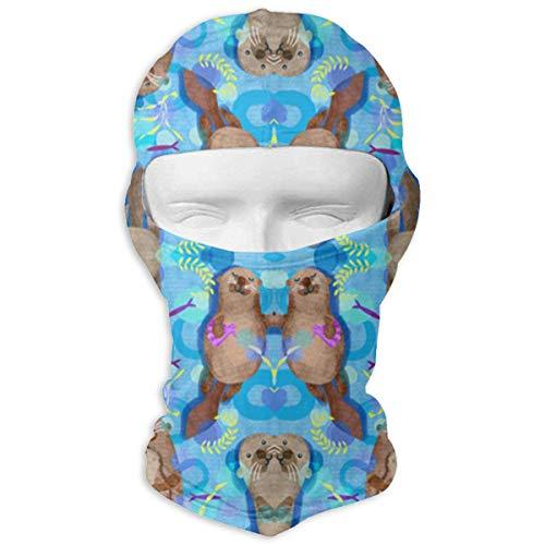Jxrodekz Sweet Playful Otters Schnell trocknende Mikrofaser-Kopfbedeckung für das Radfahren von Gesichtsmasken