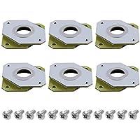 SIQUK 6 piezas Amortiguador de motor paso a paso Ender 3 amortiguadores de vibración de caucho y acero de 12 piezas y tornillos M3 de 5 mm para CNC, impresora 3D NEMA 17