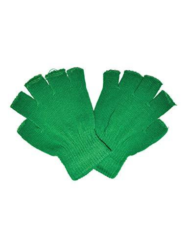 Halloweenia - Kostüm Accessoires Zubehör Fingerlose Handschuhe, Gloves Fingerless, perfekt für Halloween Karneval und Fasching, Grün