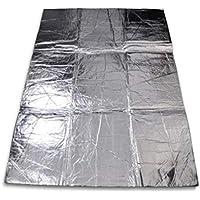 Sanzhileg Car-Styling Car Hood Motor Firewall Heat Mat Deadener Aislamiento de Sonido Deadeing Aluminium Foil Sticker Shield Mat