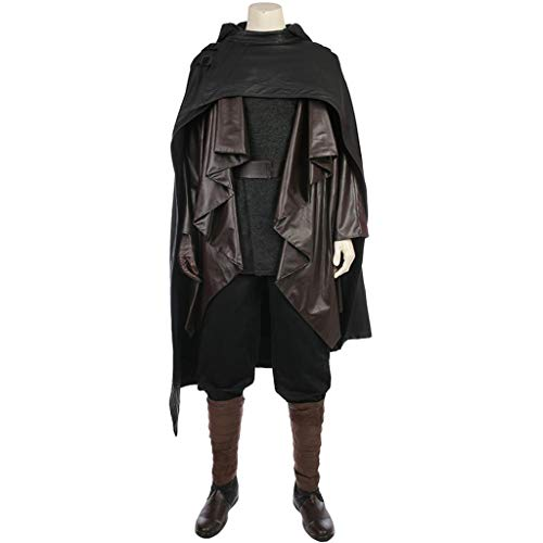 Schwarz Luke Kostüm Skywalker - Star Wars 8 COS Kleidung Luke Skywalker Schwarz Full Cosplay Kostüm Kleidung Männlich Full Set (Without Shoes)-XXL