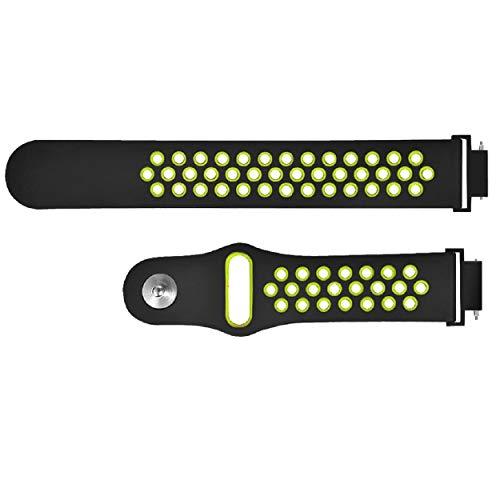GreatFunMulti-Color Choice Durable - Sport-Silikonersatzarmband mit Uhr Smart Watch-Armband, Ersatzzubehör-Armband Verstellbares Silikon-Armband