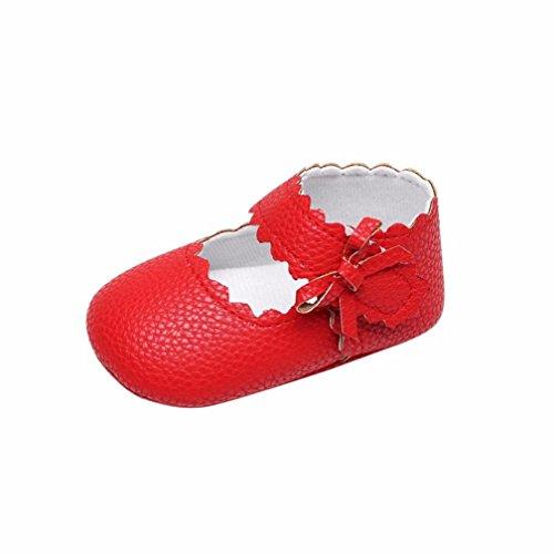 bd7e4c8b Zapatos de Bebe Niñas Recién Nacido Primeros Pasos Antideslizante Suela  Blanda Zapatos de Princesa (6