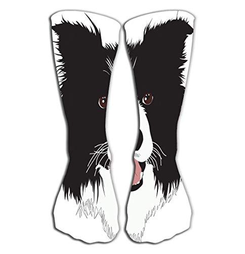Border Collie Weihnachts-strumpf (Xunulyn Hohe Socken Women Girls Novelty Funny Crew Socks 19.7