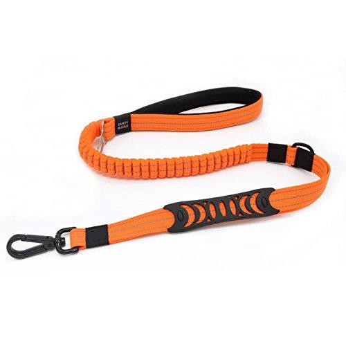 DRAULIC elastische leichte reflektierende Leine Lanyard Auto Hund Sicherheits Seil Haustier Gürtel -