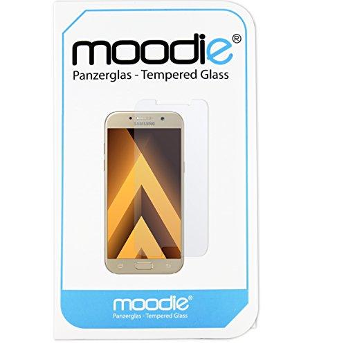 moodie Panzerglas 3D Folie für Samsung Galaxy A5 2017 - Premium Glasfolie für Gewölbte Displays Full Screen 3D Panzerglasfolie Curved vollständige Display Abdeckung