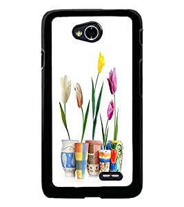PrintDhaba Flowers D-2108 Back Case Cover for LG L70 (Multi-Coloured)