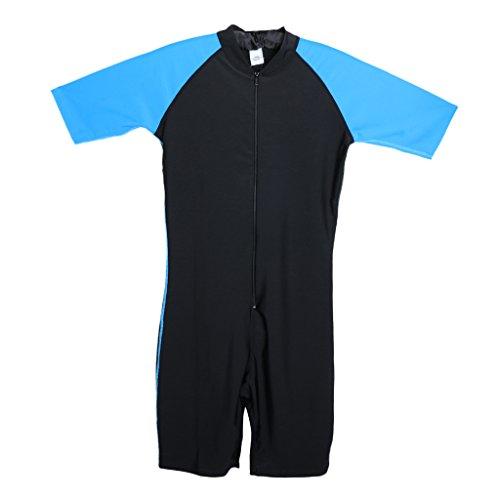 Gazechimp Herren Schwimmanzug Surfanzug Tauchanzug kurz Badeanzug, Jumpsuits, UV-Schutz & Sonnenschutz - XL
