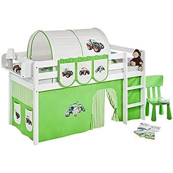 lit tracteur enfant rouge jaune vert ou bleu tracto avec matelas et sommier inclus bleu. Black Bedroom Furniture Sets. Home Design Ideas