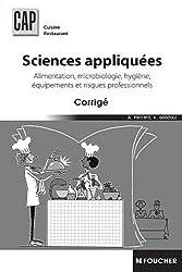 Sciences appliquées CAP Corrigé