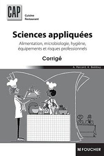 Sciences appliques CAP Corrig
