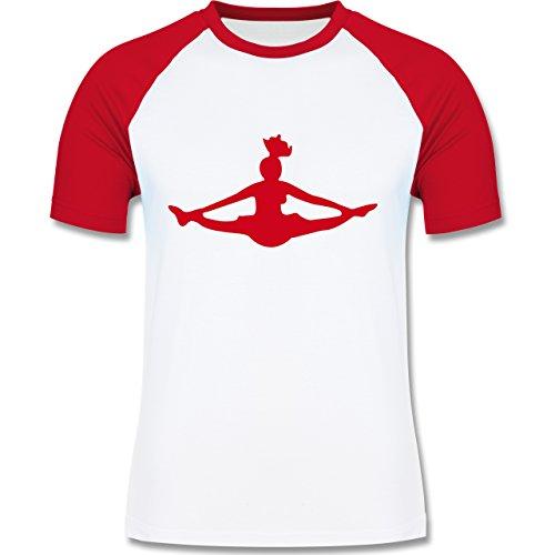Tanzsport - Cheerleading - zweifarbiges Baseballshirt für Männer Weiß/Rot