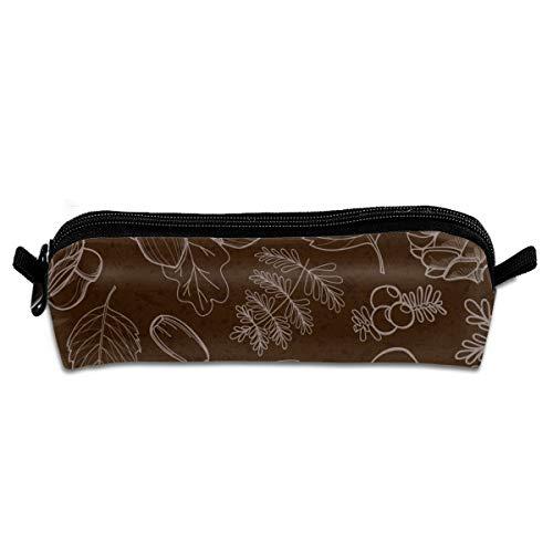 Pengyong Kräuterpflanzen-Studenten-Bleistiftetui mit Reißverschluss, kleine Kosmetiktasche, Make-up-Tasche für Kinder, Jugendliche und andere Schulbedarf