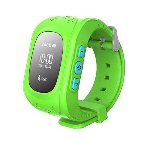 Hangang Rastreador GPS para niños Smartwatch Niños Anti-erra SOS Calling Buscador de niños a prueba de agua Rastreo en tiempo real, reloj Smart Kids Compatible con teléfonos inteligentes (verde)