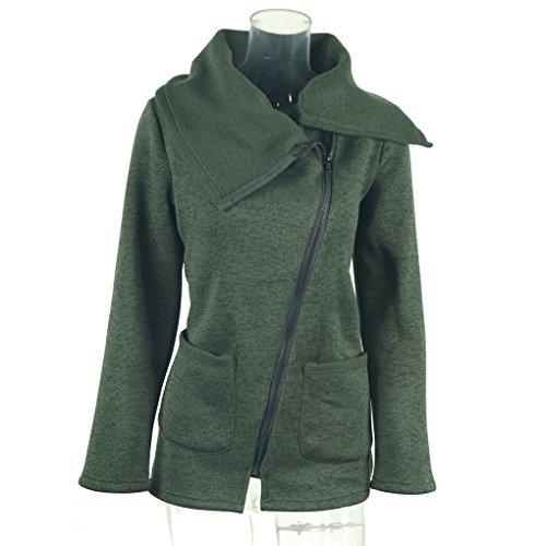 Giacche a tracolla a maniche lunghe a maniche lunghe in inverno delle donne invernali Verde