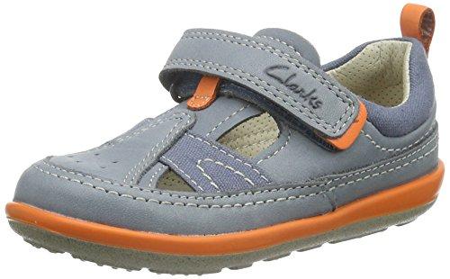 Clarks SoftlyLuke Fst Jungen Sneakers Blau (Denim Blue Lea)