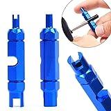 KaariFirefly MTB Fahrrad Schrader Presta-Ventil Kern Demontage Werkzeug Schraubenzieher – Blau