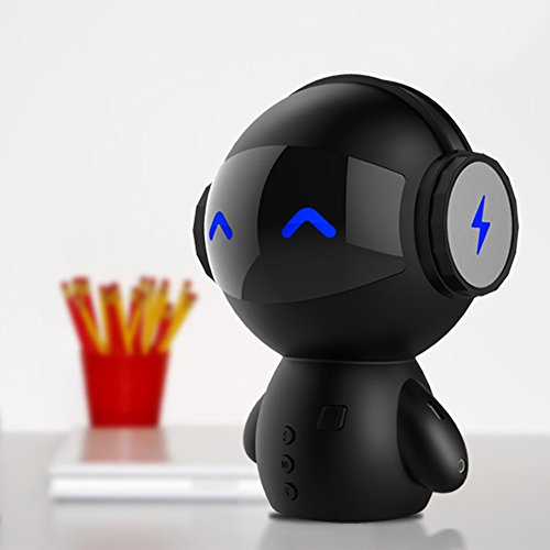 bodecin mini portable wireless stereo roboter smart bluetooth lautsprecher mit macht bank. Black Bedroom Furniture Sets. Home Design Ideas