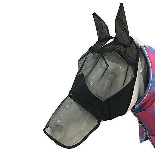 CampHiking Pferd Fliegen Maske Abnehmbare Mesh Maske mit Nasal Cover mit Reißverschluss Pferd Full Face Maske Mosquito Nase Verlängerung Vier Jahreszeiten Universal