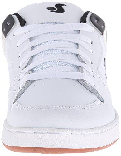 DVS APPAREL  Argon,  Sneaker uomo White/Black Leather