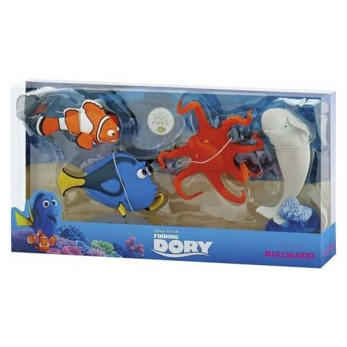 Bullyland Disney Pixar Finding Dory Figura 4Pack–Nemo, Dory, Lou & Bailey 4