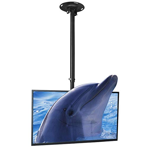 Suptek TV-Deckenhalterung, höhenverstellbar, passend für die meisten LCD-LED-Displays mit 66-127 cm (26-50 Zoll), neig- und schwenkbar, bis 45 kg, max. VESA 400 x 400 mm, MC4602 (ZC)