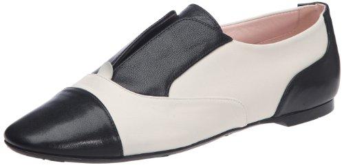 Pretty Ballerinas  40732,  Ballerine Donna, nero (Noir/blanc (Gueta Negro / Coton Sand)), 39 EU