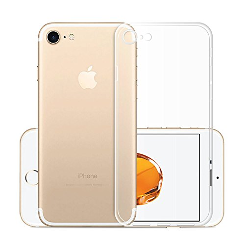 Custodia Cover Per Apple iPhone 8 / iPhone 7, WenJie Arcobaleno Unicorn Trasparente Silicone Sottile Back Case Molle di TPU Trasparente per Apple iPhone 8 / iPhone 7 Clear