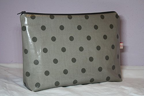 Lilli Cœur de Lion main Trousse Sac à langer TOFFEE Grey Dots coton enduit