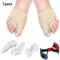 Hallux Valgus Zehenspreizer, Orthopädische Korrektur Set mit Fußballen Bandage und Gel Zehenstrecker für Fußpflege... preisvergleich bei billige-tabletten.eu